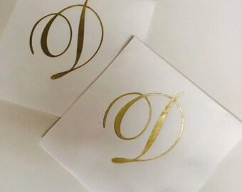 Personalized Wedding Napkins Personalized Elegant Classic Monogram Wedding Napkins Custom Monogram Initials Custom Napkins Printed Paper