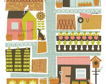A4 Limited edition 'Allotment' print