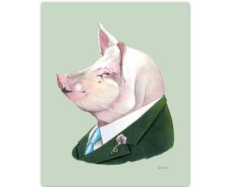 Pig print 8x10