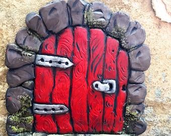 Red Fairy Door For terranium Outdoor Indoor Fairy Gardens