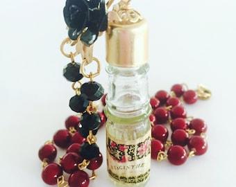 Vintage necklace, Statement Necklace, Perfume Bottle, Vintage Vanity
