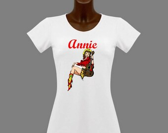 Country white women t-shirt personalized with name