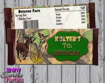 HUNTING CANDY Bar WRAPPERS, Camo Candy Bar Wrappers, Hunting Candy Bar Party Favors, Hunting Candy Bar Wraps, Deer, Hunting, Outdoors, Boy,