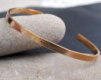 Hammered Arrow Cuff, Arrow Cuff, Arrow Bracelet, Travel Lovers Jewelry, Inspiration Jewelry