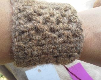 Hand made crocheted bracelets made with alpaca yarn