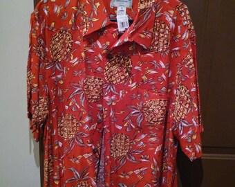 Kamehameha Hawaiian Shirt XL New