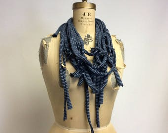 Deconstructed Stripey Knit Necklace