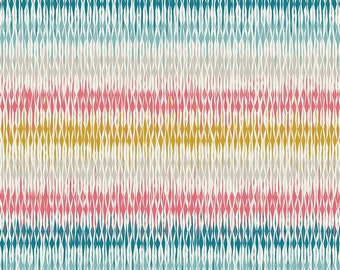 Looming Love in Pastel (Knit Fabric) by Pat Bravo from the Etno Knit collection for Art Gallery