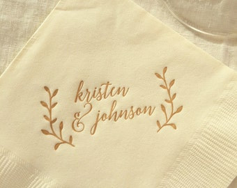 Bohemian Printed Napkins | Wedding or Personalized Home Gift | Darby Cards