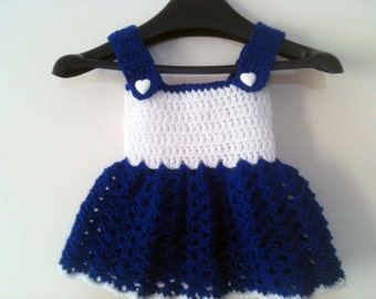 Handmade Crochet Baby Dress for Newborn Baby Girl Designer