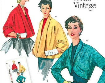 Misses RETRO 1950's Jacket & Bolero Sewing Pattern, Simplicity 1319 Sewing Pattern, Size: 6 -8 -10 -12 -14 or 14 -16 -18 -20 -22