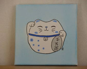 Cat Japanese Maneki Neko 1 acrylic on canvas