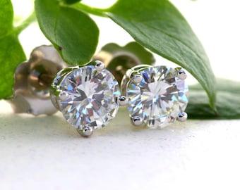 Best price on GIA certified Diamond Stud earrings - 1.00 carat total - Solitaires -14K- Christmas, Birthday, Wedding Gift - Beautiful Petra