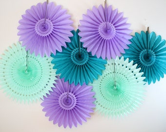 Bridal Shower Decor- Tissue Paper Fans, wedding, bridal shower, engagement party decor, anniversary