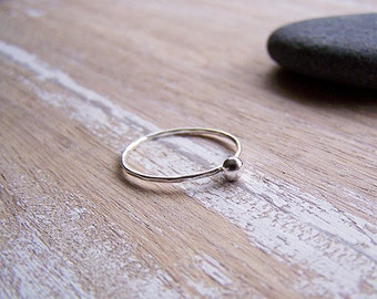 Silver Stack Ring - Sterling Silver Sphere Ring - Sphere Stack Ring - Custom Stack Ring - Recycled Sterling Silver Ring
