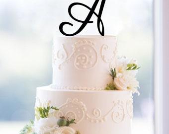 A  Monogram Cake Topper Acrylic Cake Topper Bridal Shower Gift Cake Decoration Lettered Cake Topper Anniversary Gift Engagement Gift Wedding