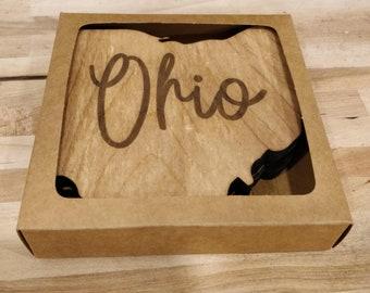 Ohio Shaped Coaster Set