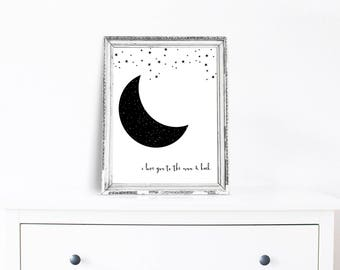 I love you to the moon & back - digital print