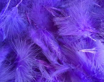 PURPLE FEATHERS Fly tying masks crafts