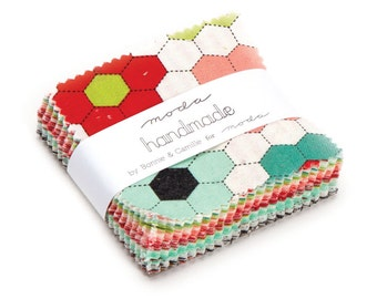 Moda Handmade MINI Charm Pack by Bonnie and Camille. New Fabric Just Arrived