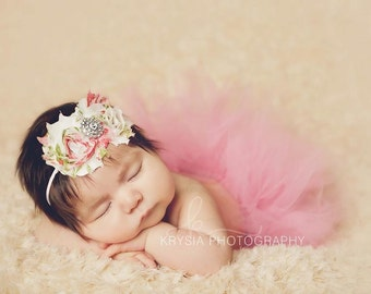 Newborn Tutu Set, Baby Tutu, newborn photo prop, baby photo prop, baby tutu set, newborn tutu, tutu set, rose tutu, baby girl, tutu, Props