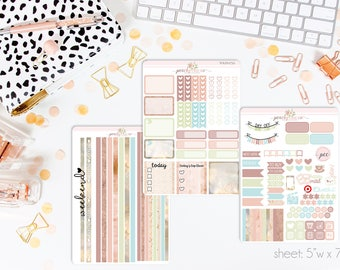 Dawn HORIZONTAL Weekly Kit // 130+ Matte Planner Stickers // Perfect for your Erin Condren Life Planner // WKH0750