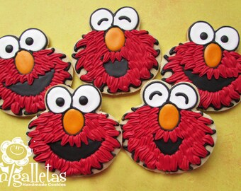 Elmo Cookies - 1 dozen