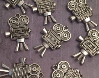 8 Video Recorder Charms - Director Charms - Movie Director Charms - Photography Charms - Video - Films