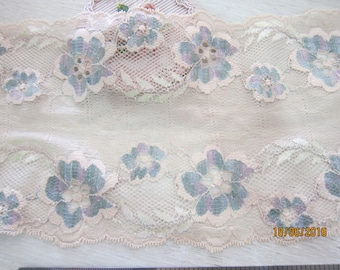 """1 yard- Wide Lace Fabric/NBDL33-6""""inches- Vintage Wide Lace/Delicate Wide Lace"""