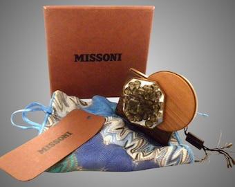 Missoni Runway Amazing wood Cuff Bracelet