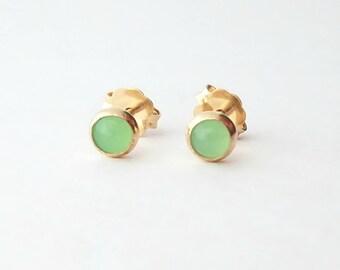 Chrysoprase Stud Earrings
