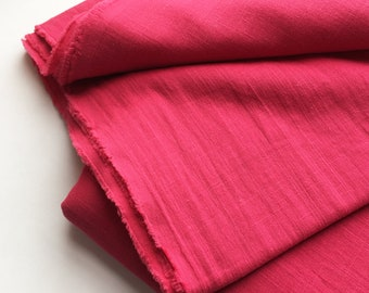cotton double gauze fabric. soft japanese pure cotton fabric. 102cm (40in) wide. sold by 50cm (19in) long / half yard. rouge red