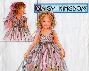 2003 Daisy Kingdom Girls' DRESS JACKET HEADBAND Pattern Simplicity #5712 Size 2,3,4 Toddler Party Sunday Dress Sewing