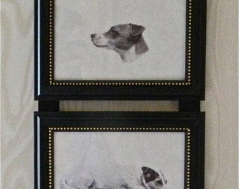 Jack Russell Terrier Dog Print Picture Frame Collage Wall Hanging Art