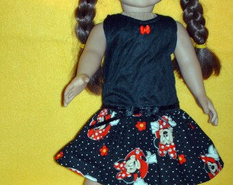 Minnie dress for American Girl doll
