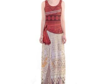 Moana Inspired Sleeveless Maxi Dress