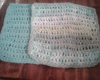 Set of 2 cotton crocheted dish cloths
