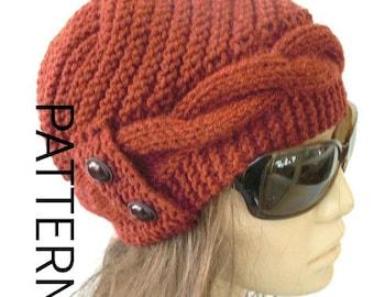 DIY Gift  Winter Knitting Pattern hat  Instant Download  hat pattern Digital  Hat Knitting PATTERN   Cable Knit hat  Cloche Hat Pattern