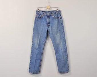 Vintage Levis Jeans, Levis 505 Jeans, Straight Leg Levis, Mens Levis Jeans, Boyfriend Jeans, Medium Wash Jeans, High Rise Jeans Size 33 34