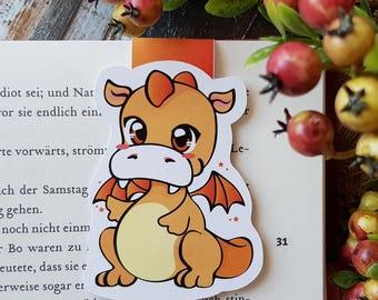 "LE magnetic bookmark ""baby Dragon"" - Orange"