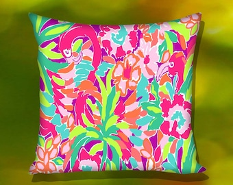 Floral Lily Pulitzer Pillow Case