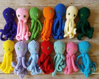 Crochet Octopus- Crocheted Octopus- Small Octopus Toy- Octopus Toy- Octopus Plush