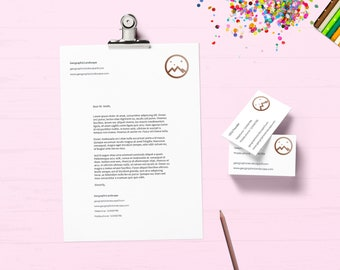 Branding package - Small business branding: Logo design - Business card design - A4 paper design - banner design - INSTANT download