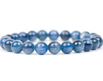 Kyanite Bracelet, Blue Gemstone Bracelet, Handmade Gemstone Jewelry, Gemstone Bracelet, Handmade Jewelry, unique-gift-for-wife, mothers day