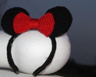 Crochet Minnie Mouse Headband