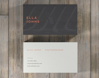 Modern Business Card, Simple Business Card, Photoshop Business Cards, Business Card Design, Photographer Business Card, Calling Card