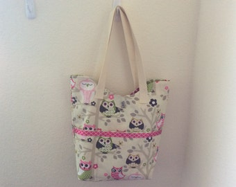 Colorful Owl Tote