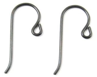 TierraCast Earwires-Black Niobium With SMALL LOOP (10)