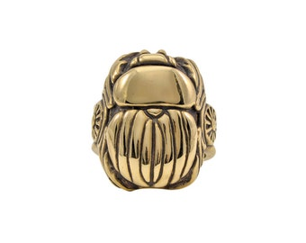 Bronze Scarab Ring, Beetle Ring, Modern Scarab Ring, Bronze Scarab Ring, Scarab Jewelry, Gold Scarab Ring, Contemporary Scarab Jewelry