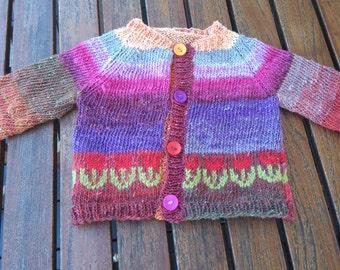 Girl 6 months cotton, wool silk vest